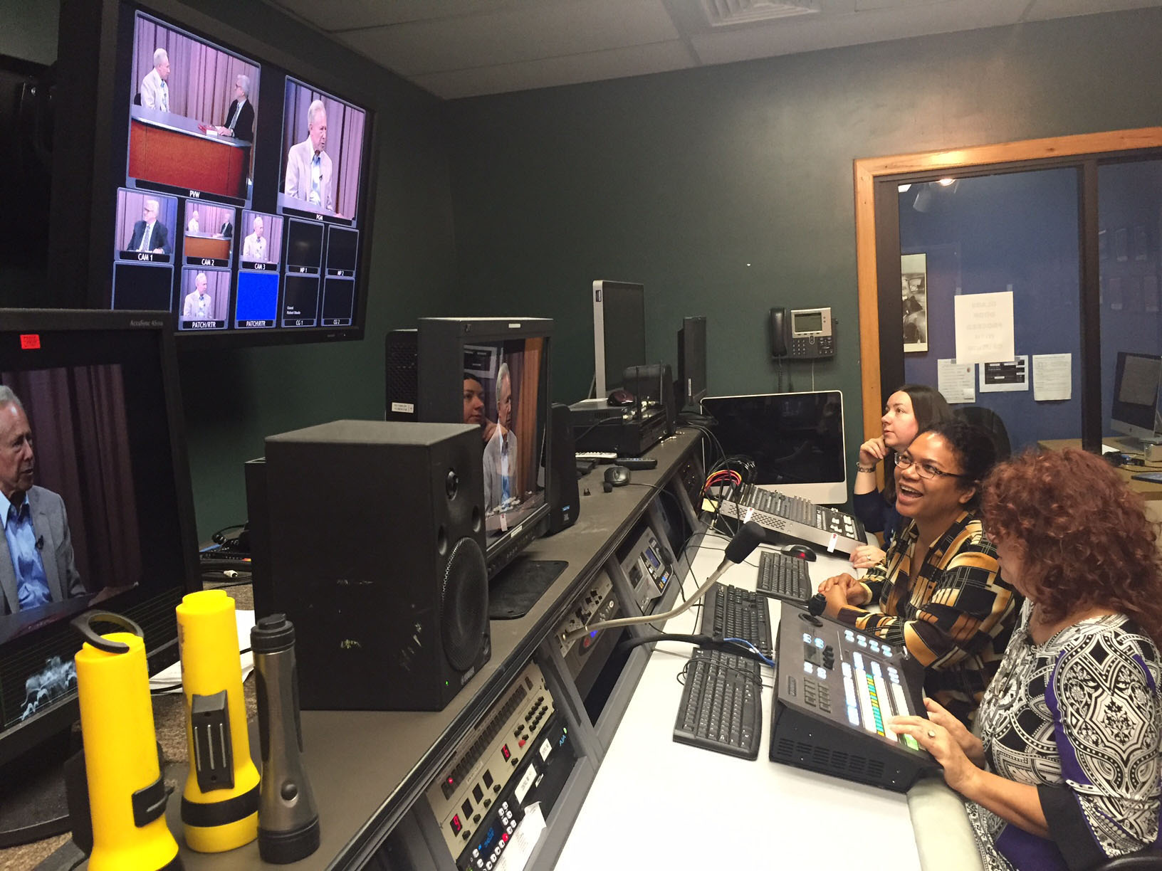 Photo of Three Women Using the Control Room in Western Connecticut